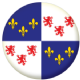 Picardy Province Flag 58mm Button Badge